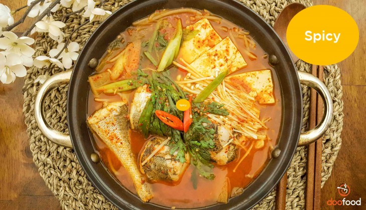 Spicy pollock stew (생태매운탕)