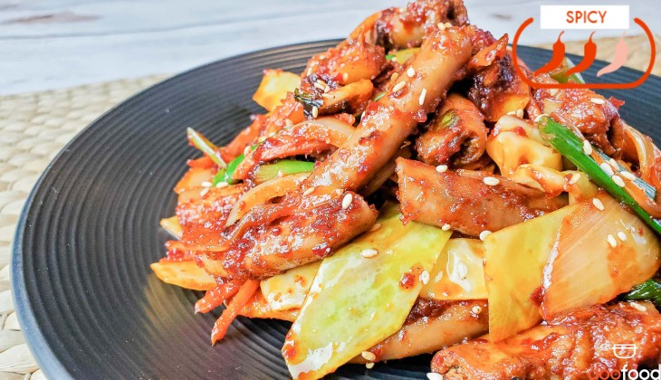 Grilled beef intestines (양념곱창구이)