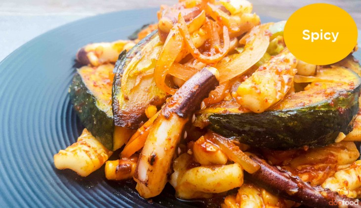 Squid with sweet pumpkin (단호박오징어)