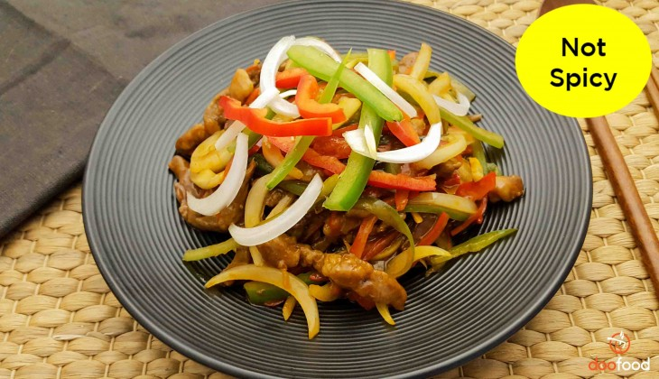 Beef with bell peppers (소고기피망볶음)