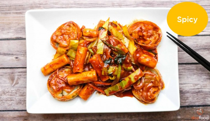 Spicy brown rice cake (매운현미떡볶이)