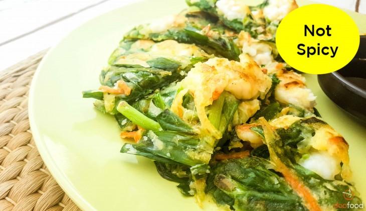 Shrimp chive pancake (부추새우전)