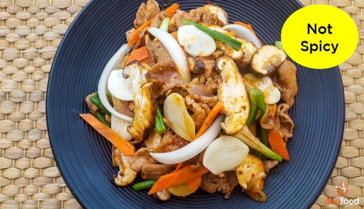 Garlic pork (마늘제육)