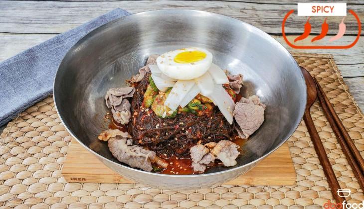 Korean spicy cold noodle (비빔냉면)
