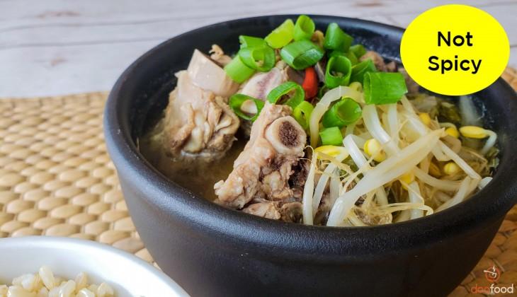 Beef rib hangover soup (뼈다귀해장국)